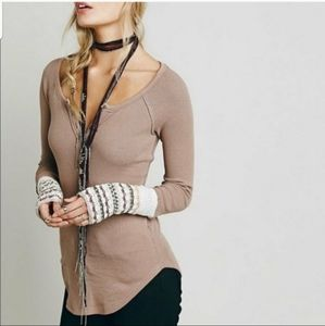 Free People Henley Blouse